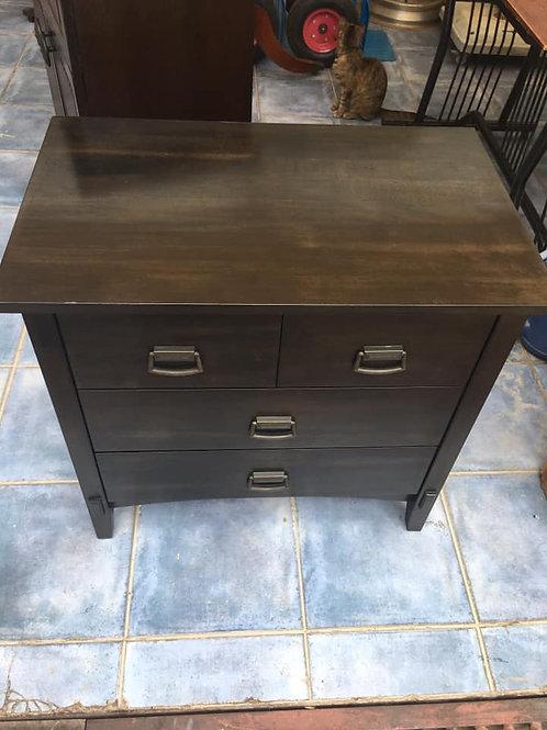 Lovely black 4 drawer chest of drawers