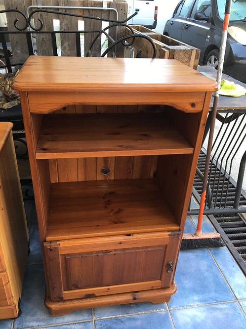 Pine TV Cabinet with Shelf and cupboard