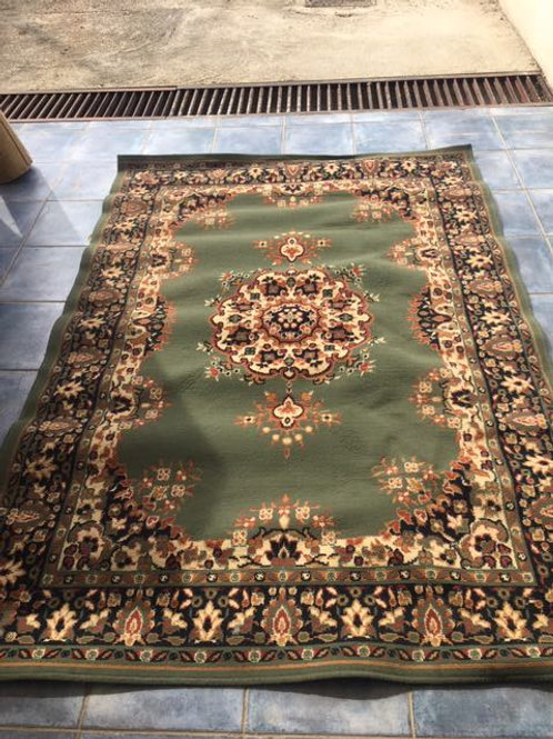 Traditional green rug