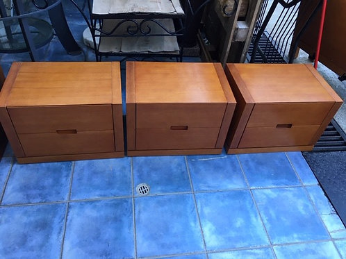 Oak Bedside with 2 drawers