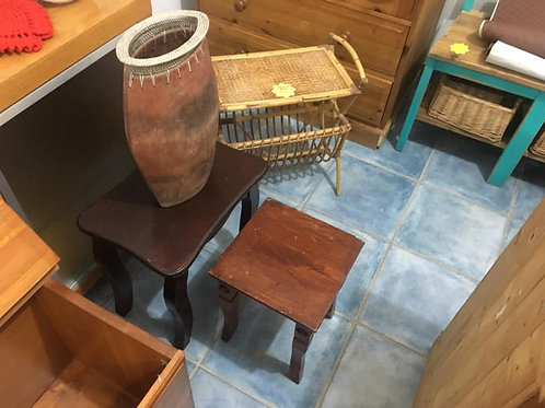 Small dark table (larger of 2 pictured)