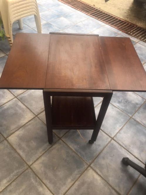 Dark wood small drop leaf table
