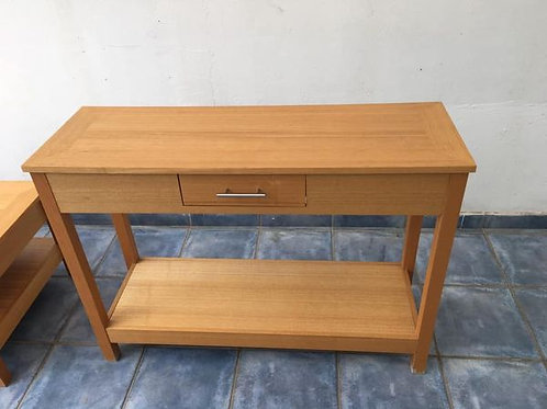 Modern oak console table (109x37x79h)