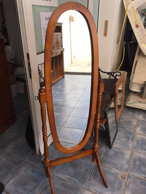American cherry cheval mirror