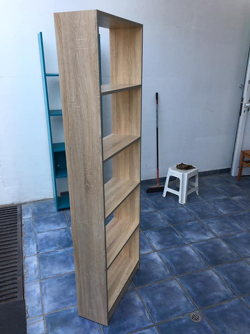 Ash coloured shelving unit