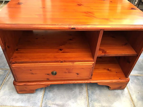 Red wood low level TV unit