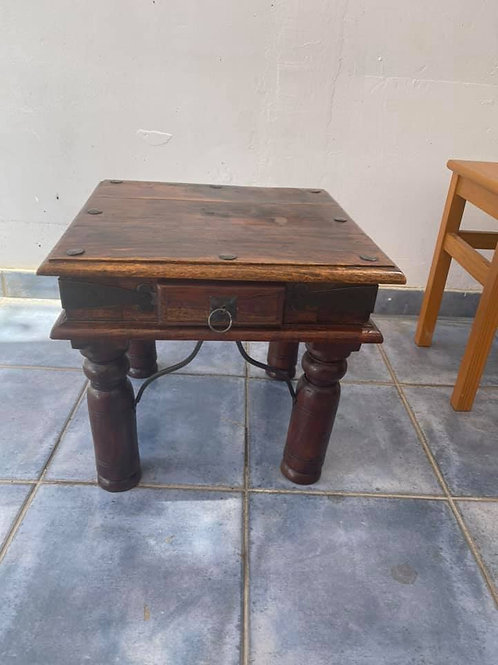 Lovely Indian wood occasional table with drawer