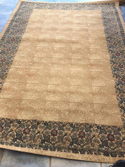 Beige patterned rug