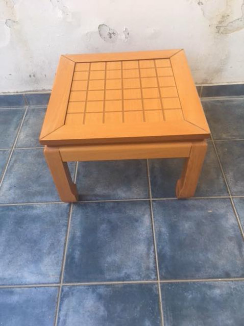 Light wood square coffee table