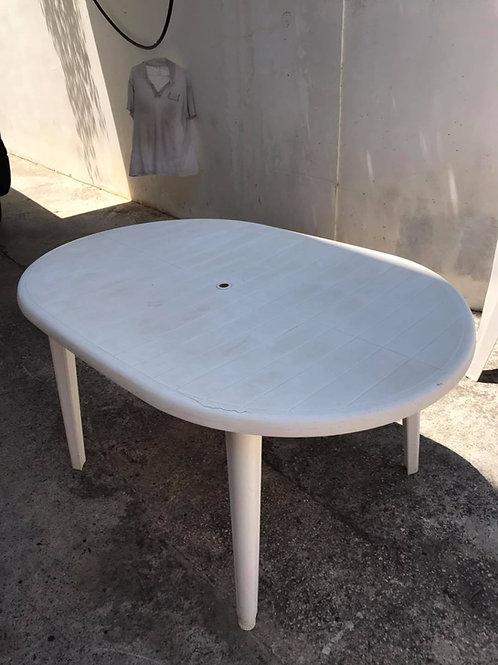 Oval plastic table ~ slight damage