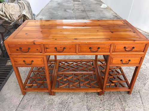 Rare antique 6 drawer desk from Hong Kong