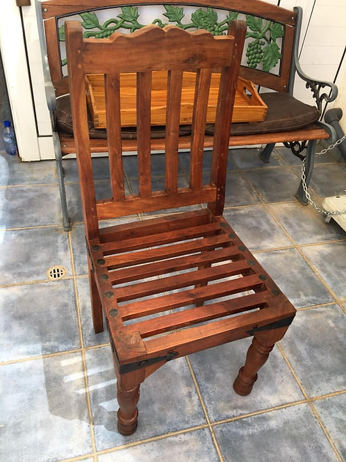 Large Indian wood chair