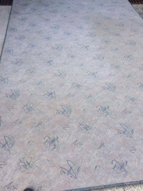 Light grey patterned rug