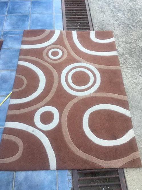 Modern brown and cream rug