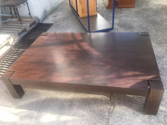 Low Level Dark Wood Coffee Table Furniturerus