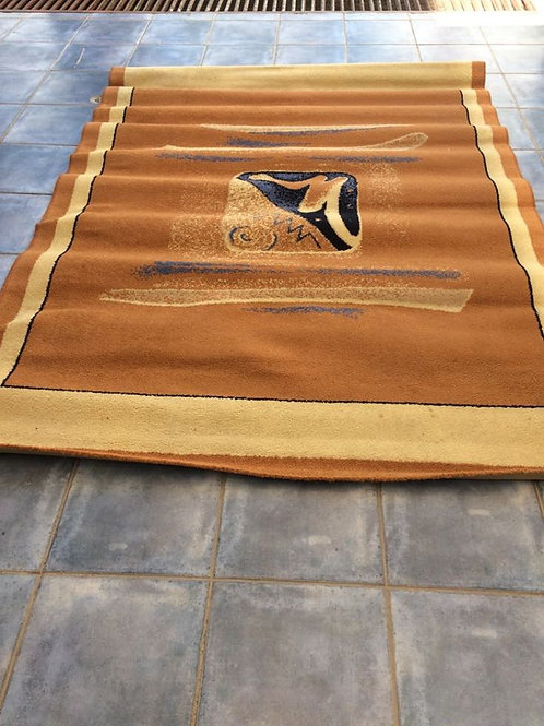 Orange Modern rug