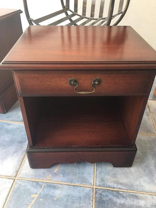 mahogany bedside