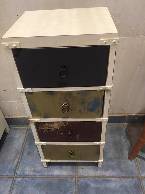 Unusual slim chest of drawers 4 drawer