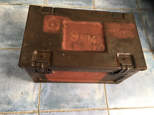 Vintage 1955 H50 MK 9mm Ammo box