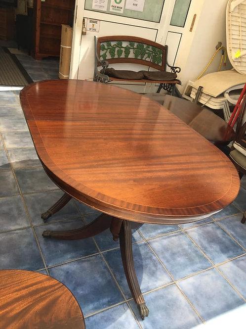 Classic mahogany extending table