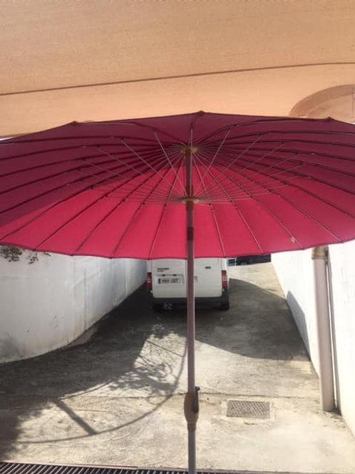 Pink sun umbrella 248cm
