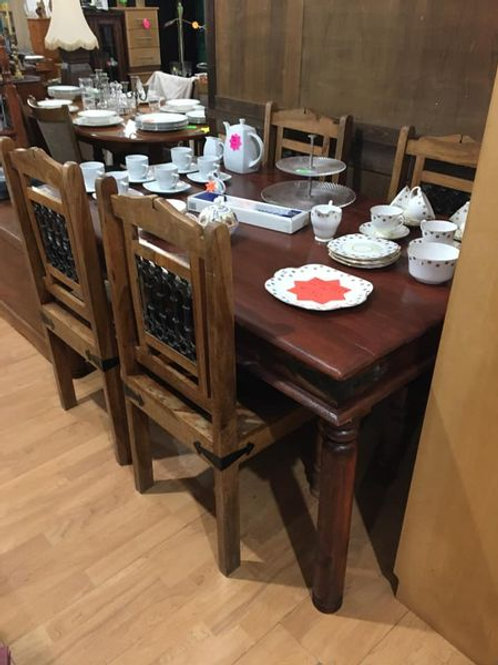 Indian wood dining table with4 chairs