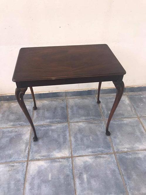 Antique mahogany turned leg table