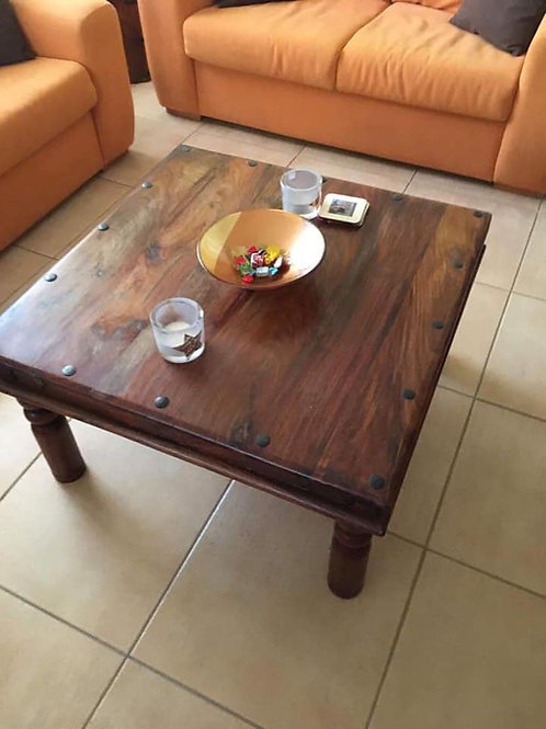 Square indian wood coffee table