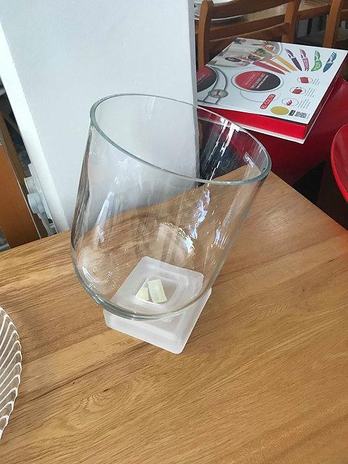 Glass wine cooler
