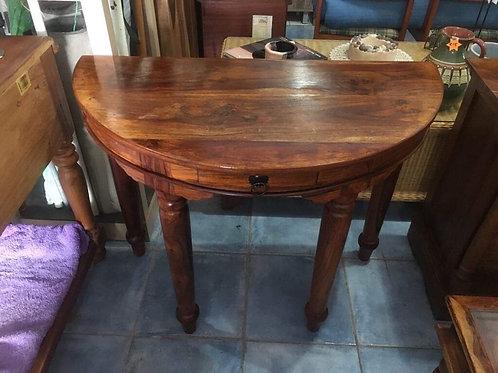 Indian wood half moon table