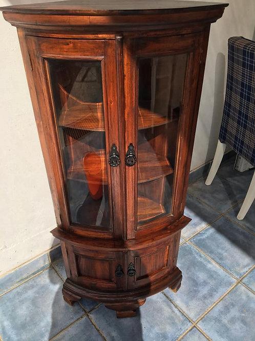 Beautiful Indian wood corner unit with glass doors