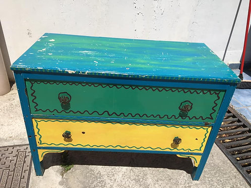 2 drawer coloured cabinet
