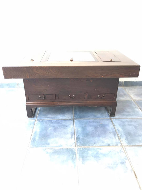 Japanese Copper lined hibachi coffee table
