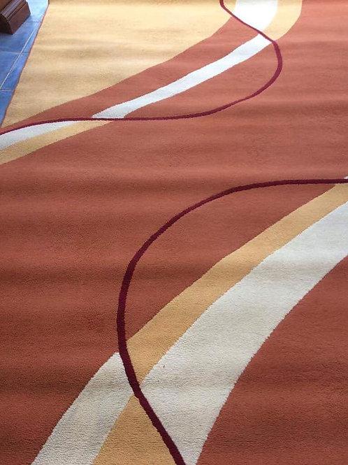 Modern patterned rug