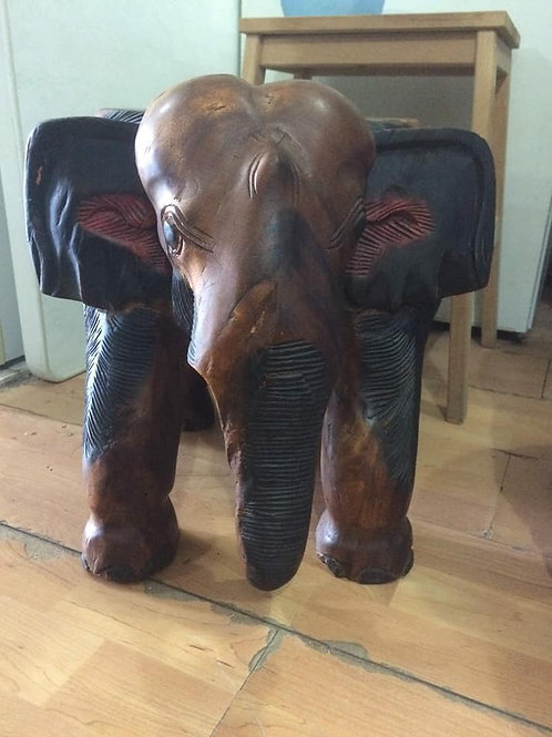Stunning hand carved elephant plant stand