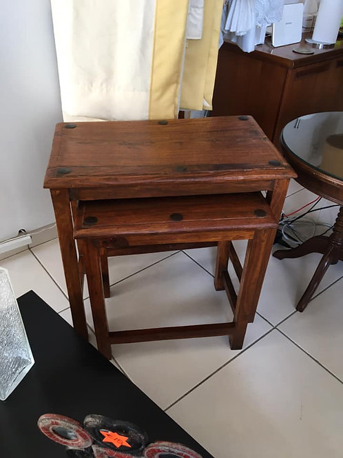 Lovely Indian wood two table nest