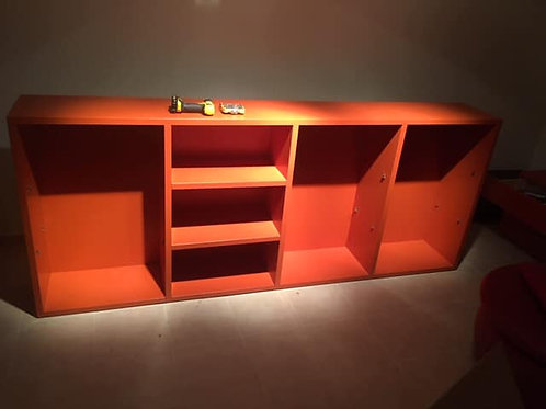 Large Italian high quality high gloss terracotta storage unit