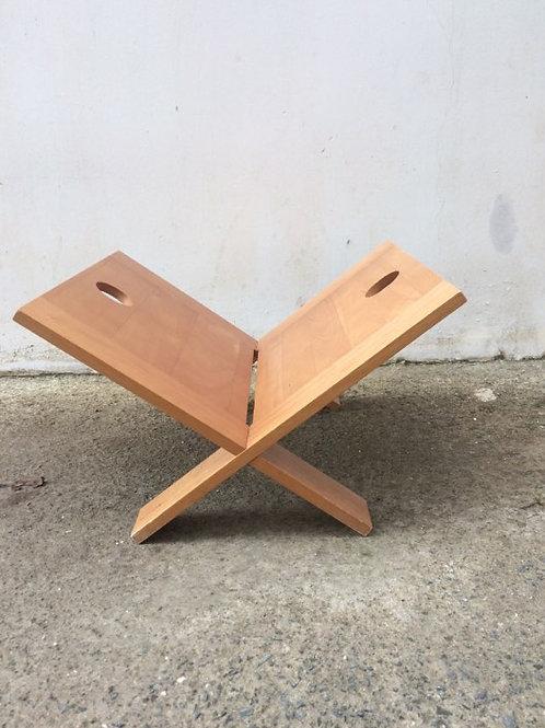 Pine magazine rack
