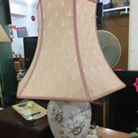 Lovely peach ceramic lamp