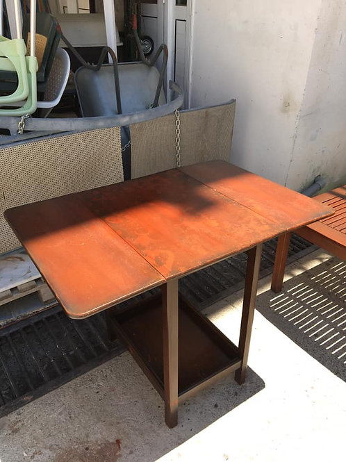 Dark wood drop leaf table