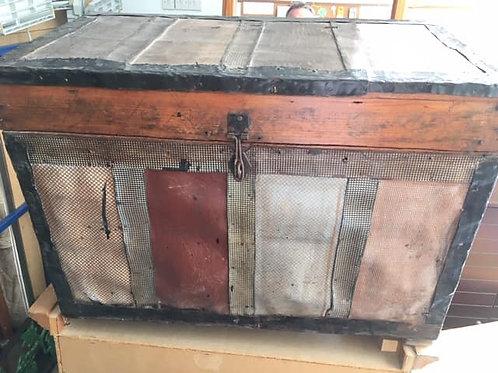 Antique wood chest - storage box 62w x 35d x 44 high
