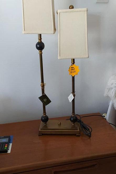 Brand new brass twin lamp