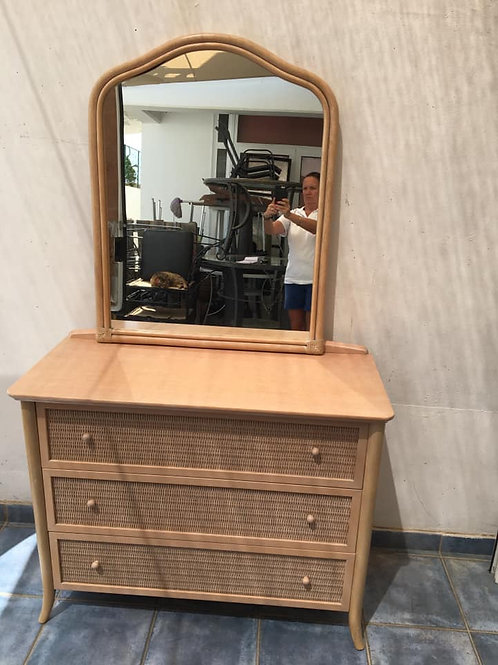 Italian cane mirror only dressing table now sold