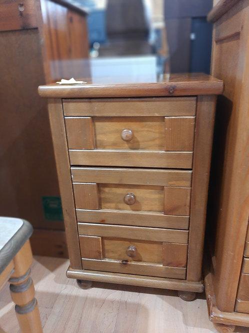 Pine 3 Drawer Bedside Unit
