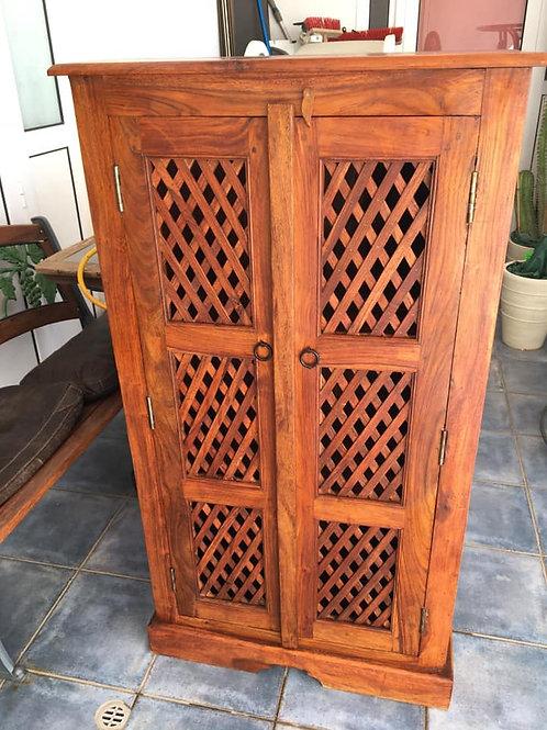 Beautiful tall Indian wood cabinet