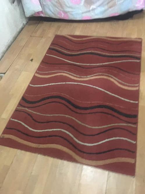 Brown modern rug