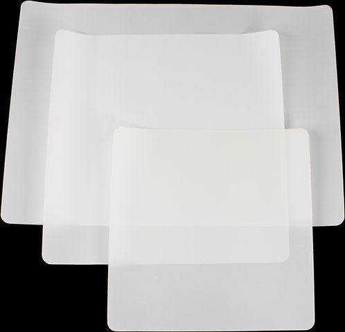 3 Pack PTFE Pressing Sheet Multiple Sizes. Non Stick Transparent Sheets