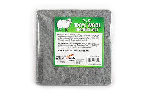 "9"" x 9"" Wool Ironing Mat - 100% New Zealand Wool Pressing Pad, great for classes"