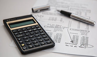 Calculator, Pen, and Document