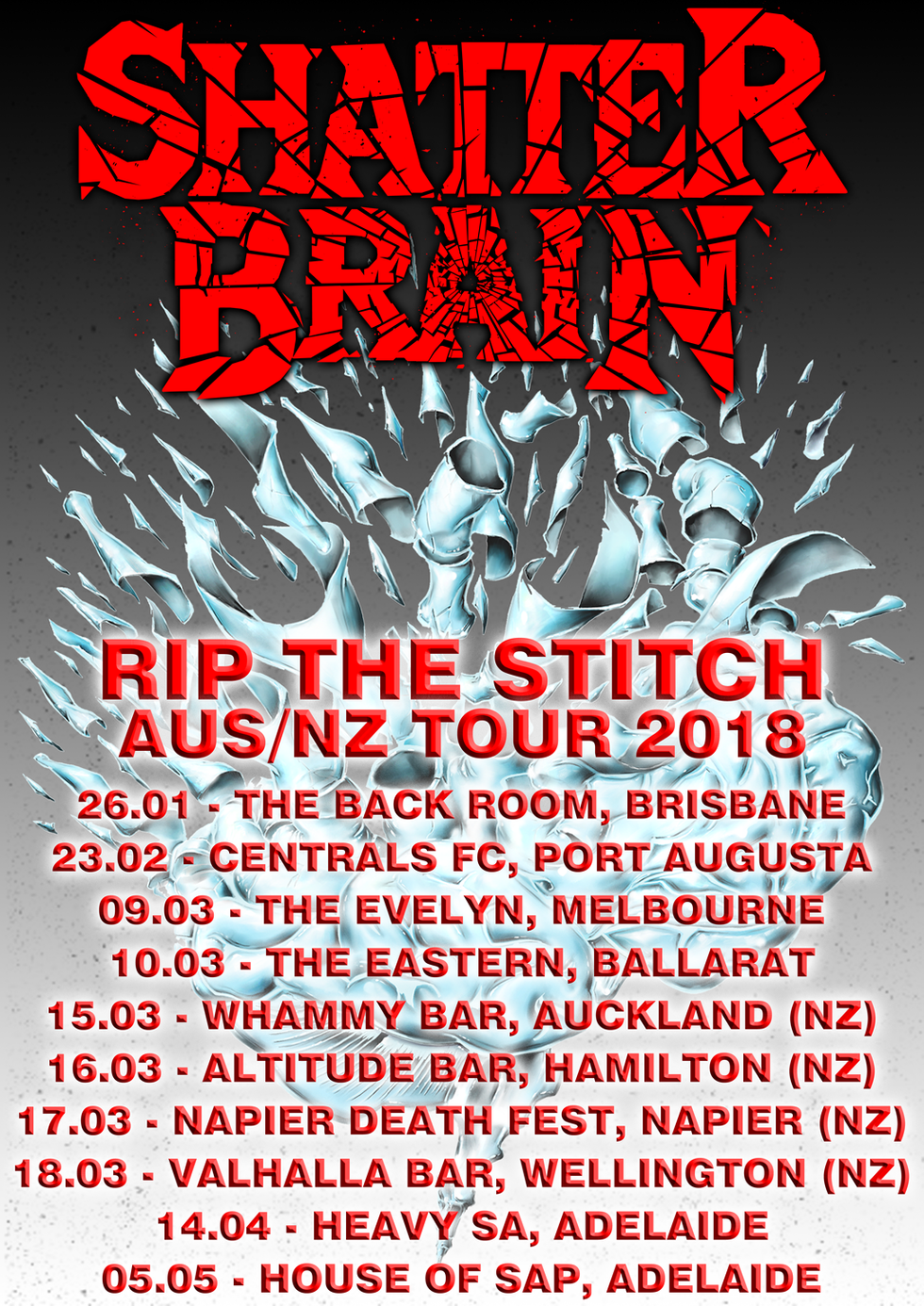 THE SHATTER BRAIN DEMO AND RIP THE STITCH VIDEO RELEASED